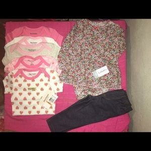 12mo babygirl Juicy couture & Carter's